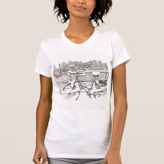 Snowy Amsterdam bicycle t-shirt