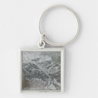 Snowy and hazy central Russia showing the Ob Ri Key Ring