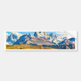 Snowy Andes Mountains, El Chalten, Argentina Bumper Sticker