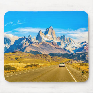 Snowy Andes Mountains, El Chalten, Argentina Mouse Mat