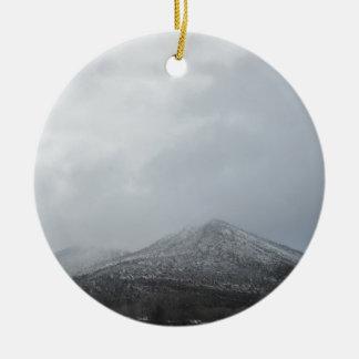 Snowy Arizona Mountain Double-Sided Ceramic Round Christmas Ornament