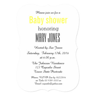 Snowy Baby Shower Invitation
