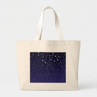 Snowy Backdrop Large Tote Bag