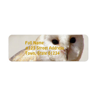 Snowy Barn Owl Mailing Labels