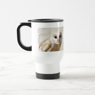 Snowy Barn Owl Plastic Travel Mug