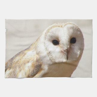 Snowy Barn Owl  Towel