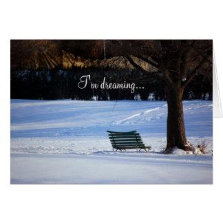 Snowy Bench Christmas Card