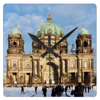 Snowy Berlin Cathedral 001.02 Clocks