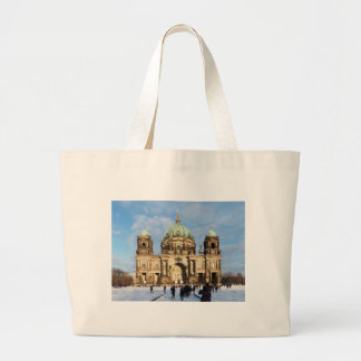 Snowy Berlin Cathedral Canvas Bag