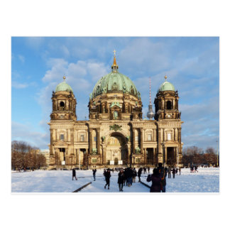 Snowy Berlin Cathedral Postcard