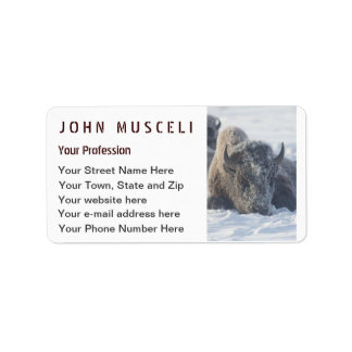 Snowy Bison Customizable Business suite Address Label