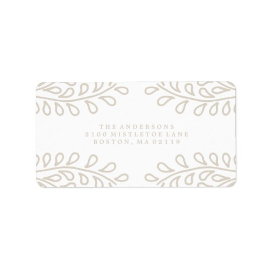Snowy Branches Collection Label