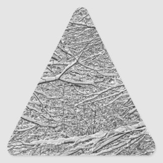 Snowy Branches Triangle Stickers