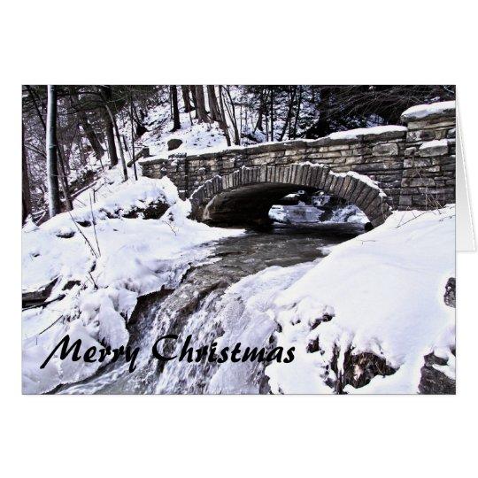Snowy Bridge Card