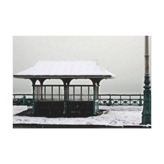 snowy brighton canvas print