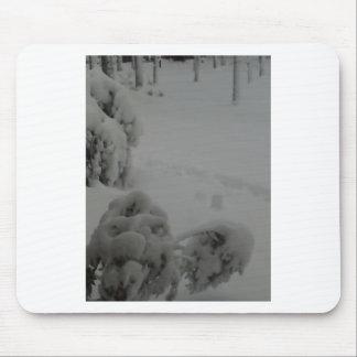 Snowy Bushes Mouse Mats