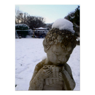 Snowy Cherub Poster