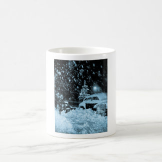 Snowy Christmas in New York City Vintage Classic White Coffee Mug