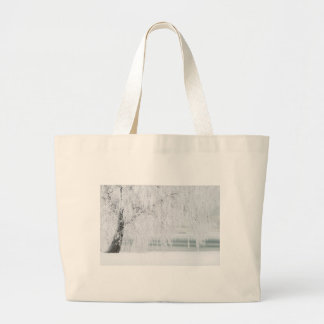 Snowy Christmas Scene Large Tote Bag