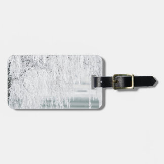 Snowy Christmas Scene Luggage Tag