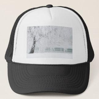 Snowy Christmas Scene Trucker Hat