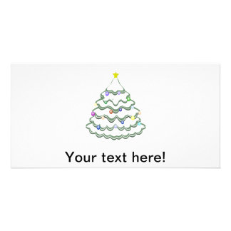 Snowy Christmas tree clipart Photo Cards