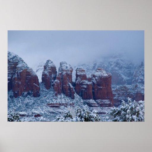 Snowy Coffee Pot Rock 2736 Poster