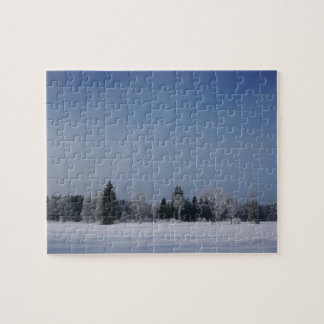 Snowy cold winter landscape 12 puzzle