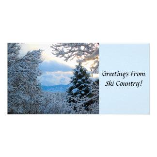 Snowy Colorado Custom Photo Card