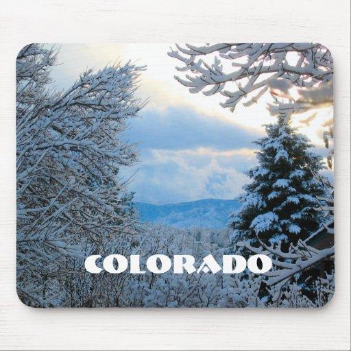 Snowy Colorado Mouse Pads