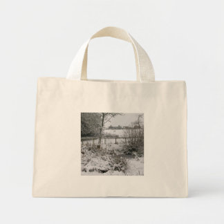 Snowy Corner Mini Tote Bag