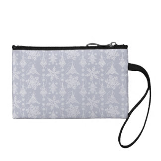 Snowy Damask Coin Wallets