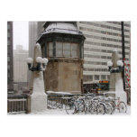 Snowy Day in the Chicago Loop Postcard