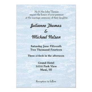 """Snowy Day 5"""" X 7"""" Invitation Card"""