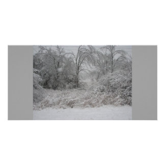 snowy day picture card