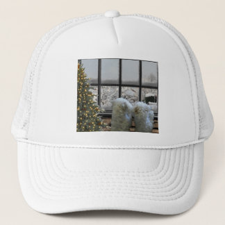 Snowy day trucker hat