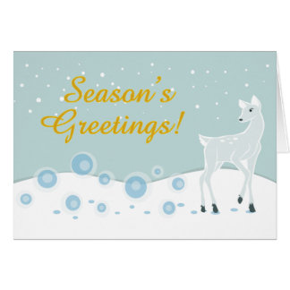 Snowy Deer Card