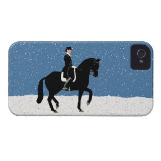 Snowy Dressage Horse Christmas iPhone 4 Covers