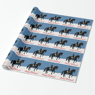 Snowy Dressage Horse Christmas Wrapping Paper