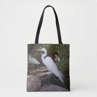 Snowy Egret Bird in Florida Tote Bag