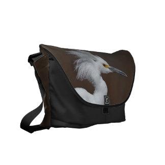 Snowy Egret (Egretta thula) for Bird Lovers Commuter Bags
