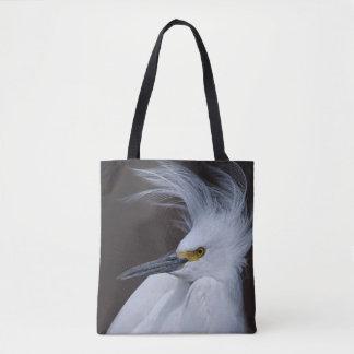 Snowy Egret - Egretta thula - Tote Bag