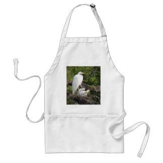 Snowy Egret Family Standard Apron