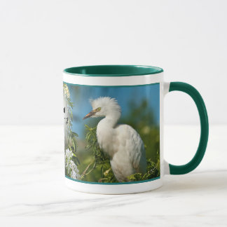 Snowy Egret Good Morning Mug