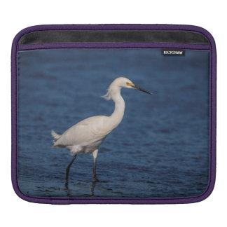 Snowy Egret on North Beach iPad Sleeve