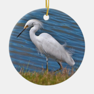Snowy Egret Ornament