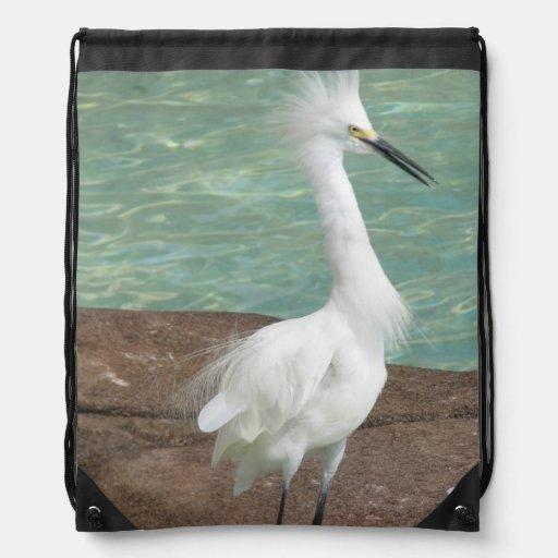 Snowy Egret Backpacks