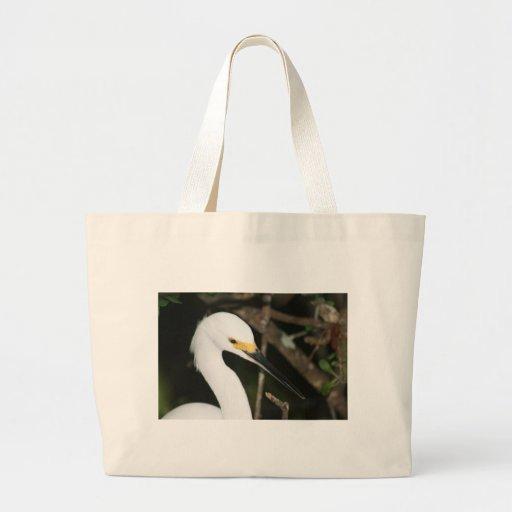 Snowy Egret Wading Bird Tote Bag