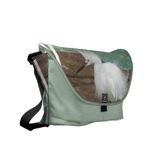 Snowy Egrets Messenger Bag