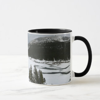 Snowy Ellery Lake California Winter Photography Mug